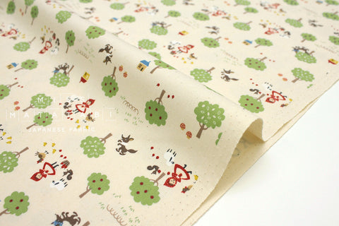 Japanese Fabric Kokka Classics - Little Red Riding Hood - natural - 50cm
