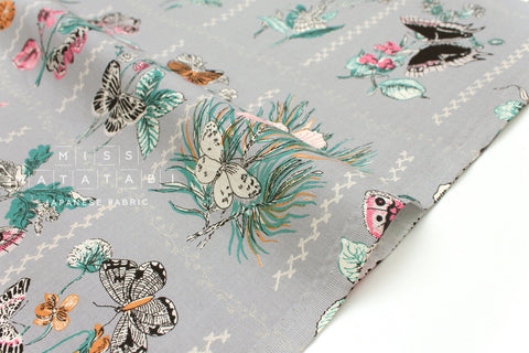 Japanese Fabric Butterfly Frames - grey - 50cm