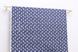 Japanese Fabric Creator's Room Fabrics - rabbits - navy blue -  50cm