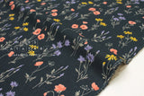 Japanese Fabric Poppies - navy blue - 50cm