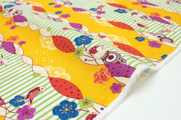 Japanese Fabric Tori Border dobby - C - 50cm