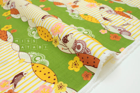Japanese Fabric Tori Border dobby - D - 50cm