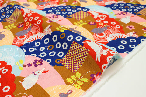 Japanese Fabric Bunny Mountain dobby - A - fat quarter