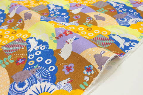 Japanese Fabric Bunny Mountain dobby - B - fat quarter
