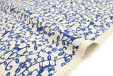 Japanese Fabric Kokka K.A.E neko vines - blue - fat quarter