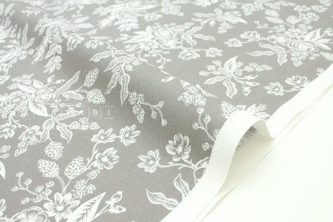 Cotton + Steel English Garden - toile grey - 50cm