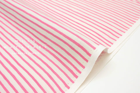 Cotton + Steel English Garden - stripes pink - 50cm