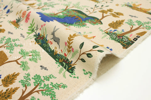 Cotton + Steel English Garden canvas - garden toile cream - 50cm