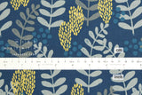 Cotton + Steel Imagined Landscapes - fern dell - navy, metallic - 50cm