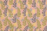 Cotton + Steel Imagined Landscapes - fern dell - rose, gold metallic - fat quarter