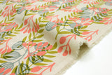 Cotton + Steel Imagined Landscapes canvas - meadow - coral - fat quarter