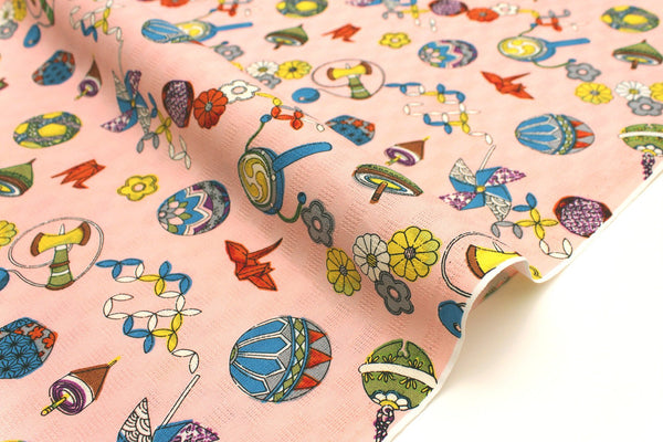 Japanese Fabric Traditional Toys dobby - pink - 50cm