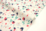 Japanese Fabric Petals rayon lawn - cream - 50cm