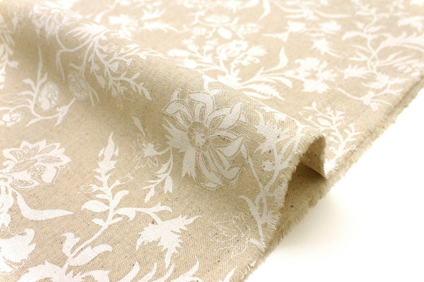 Japanese Fabric Thistle - white, natural - 50cm