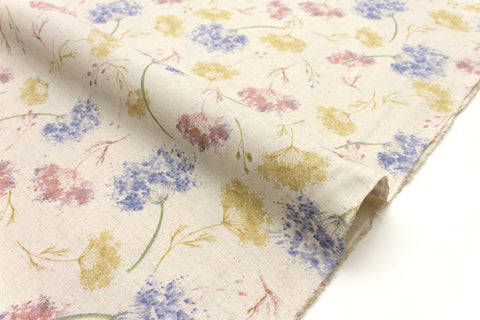 Japanese Fabric Autumn Floral - natural - 50cm