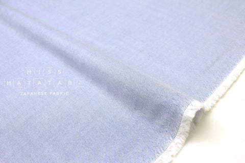 Japanese Fabric Yarn Dyed Oxford Cotton - chambray blue - 50cm