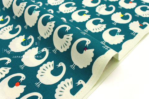 Cotton + Steel Akoma - Sankofa - teal - fat quarter