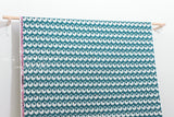 Cotton + Steel Akoma - Sankofa - teal - 50cm