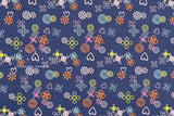 Cotton + Steel Akoma - Symbolic - navy - fat quarter