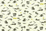 Japanese Fabric Kokka Ihme Chamber Naughty Cats double gauze - 50cm