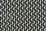 Japanese Fabric Clever Seals - cotton lawn - black, green - 50cm