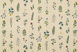 Japanese Fabric Kokka Fine Line Flowers - natural - fat quarter