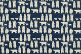 Japanese Fabric - Polar Bears twill - blue - 50cm