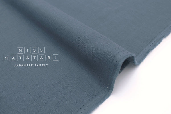 Japanese Fabric Muji double gauze - smokey blue - 50cm