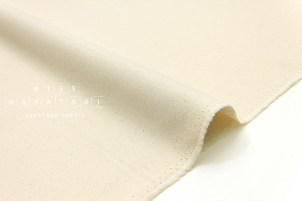 Japanese Fabric Muji canvas - unbleached cotton - 50cm