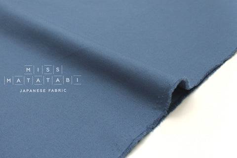 Japanese Fabric Muji canvas - blue - 50cm
