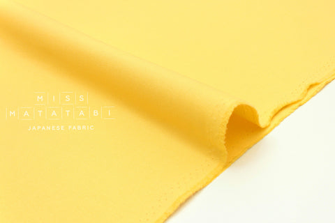 Japanese Fabric Muji canvas - yellow - 50cm