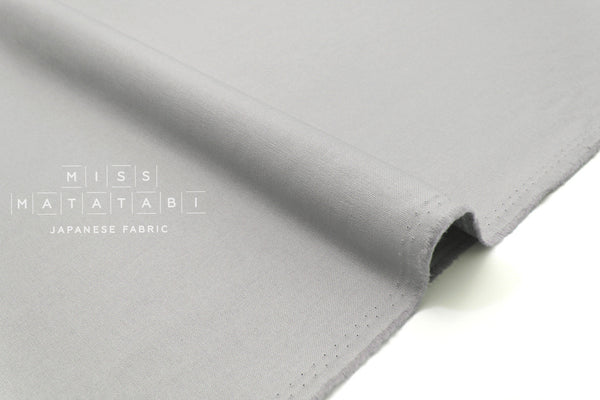 Japanese Fabric Muji canvas - grey - 50cm