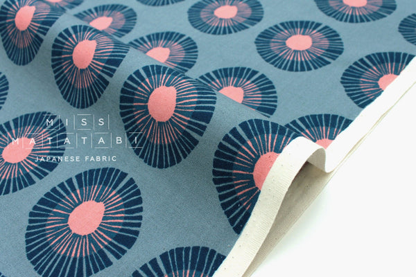 Cotton + Steel Imagined Landscapes - seaside daisy - slate - fat quarter