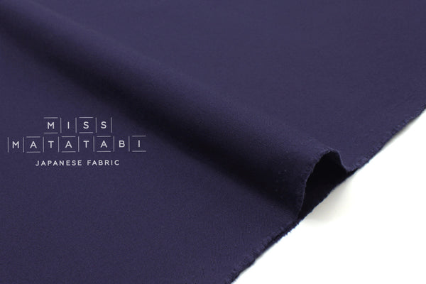 Japanese Fabric Muji canvas - navy blue - 50cm