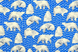 Japanese Fabric Content Bears - blue, cream - 50cm