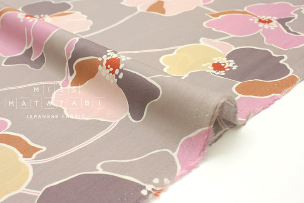 Japanese Fabric Statement Floral rayon lawn - blush, pink - 50cm