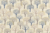 Japanese Fabric Gold Trees Canvas - natural, taupe, metallic gold - 50cm