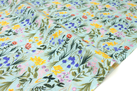 Japanese Fabric Delicate Flora - cotton lawn - green - 50cm