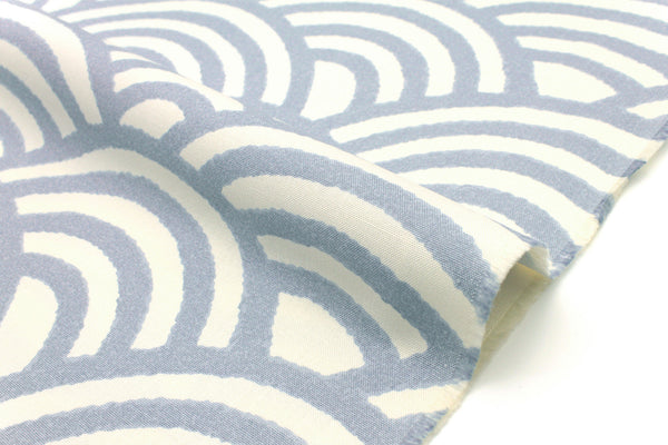 Japanese Fabric Waves - light grey - 50cm