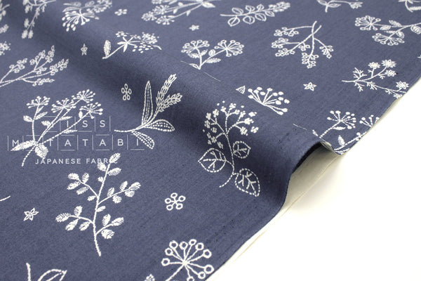 Japanese Fabric La vie en Rose - blue - 50cm