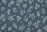 Japanese Fabric La vie en Rose double gauze - dark teal - 50cm
