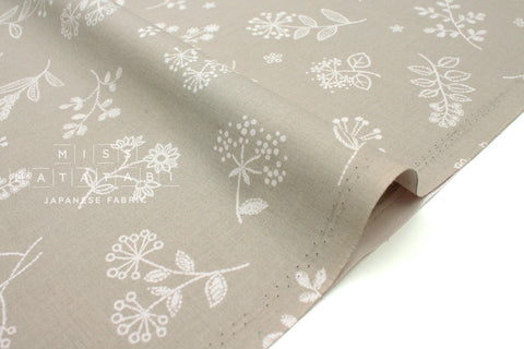 Japanese Fabric La vie en Rose - greige - 50cm