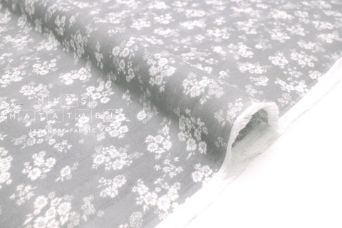 Japanese Fabric Little Daisies double gauze - light grey - 50cm