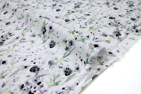 Japanese Fabric Watercolor Garden Cotton Voile - 50cm