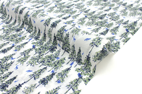 Japanese Fabric Tiny Woodland - blue - 50cm