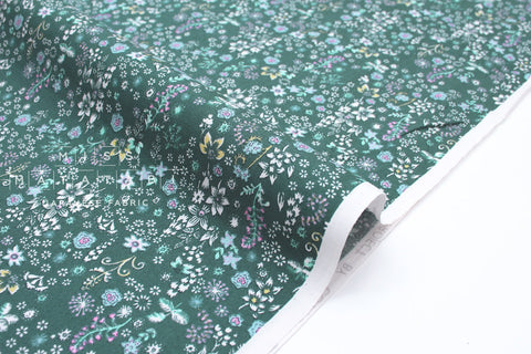 Japanese Fabric Dainty Floral - teal - 50cm