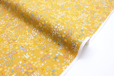 Japanese Fabric Dainty Floral - yellow - 50cm