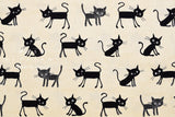 Japanese Fabric cocoland surprised cats canvas - natural - 50cm