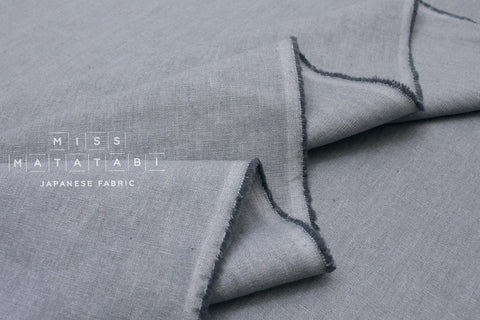 Japanese Fabric Kirisame canvas - chambray blue - 50cm