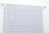 Japanese Fabric Textured Enshuku  Watercolor Dots lawn - black, off white - 50cm